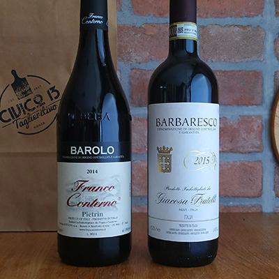 Vino Rosso Piemonte Barolo Barbaresco