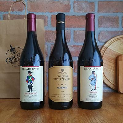 Box Vino Rosso Piemonte Dolcetto Alba Nebbiolo Langhe Barbera