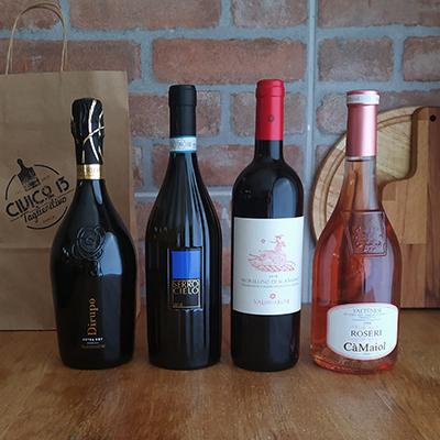 Box Vino Mista Prosecco Bianco Rosso Rosè