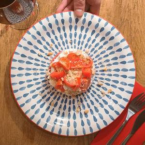 Tartare Fresca Pugliese Carne Stracciatella Pomodorini