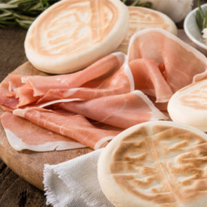 Tagliere Crudo di Parma 18 mesi Tigelle